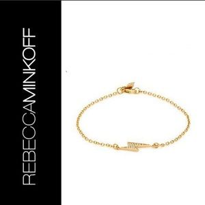 Rebecca Minkoff Lightning Bolt Bracelet - Gold